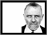 Anthony Hopkins,broda, krawat