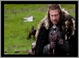 Gra o tron, Game of Thrones, Miecz, Skupienie, Eddard Stark - Sean Bean