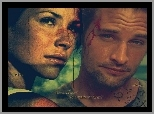 Serial, Lost, Zagubieni, Josh Holloway, Evangeline Lilly