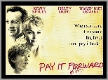 Pay It Forward, Kevin Spacey, Haley Joel Osment, Helen Hunt, kartka