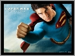 Superman Returns, Brandon Routh, leci, pięść