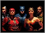 Film, Liga Sprawiedliwości - Justice League, Ray Fisher - Cyborg, Ben Affleck - Batman, Jason Momoa - Aquaman, Ezra Miller - Flash, Gal Gadot - Wonder Woman