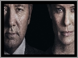 Serial, House of Cards, Aktor, Kevin Spacey, Aktorka, Robin Wright